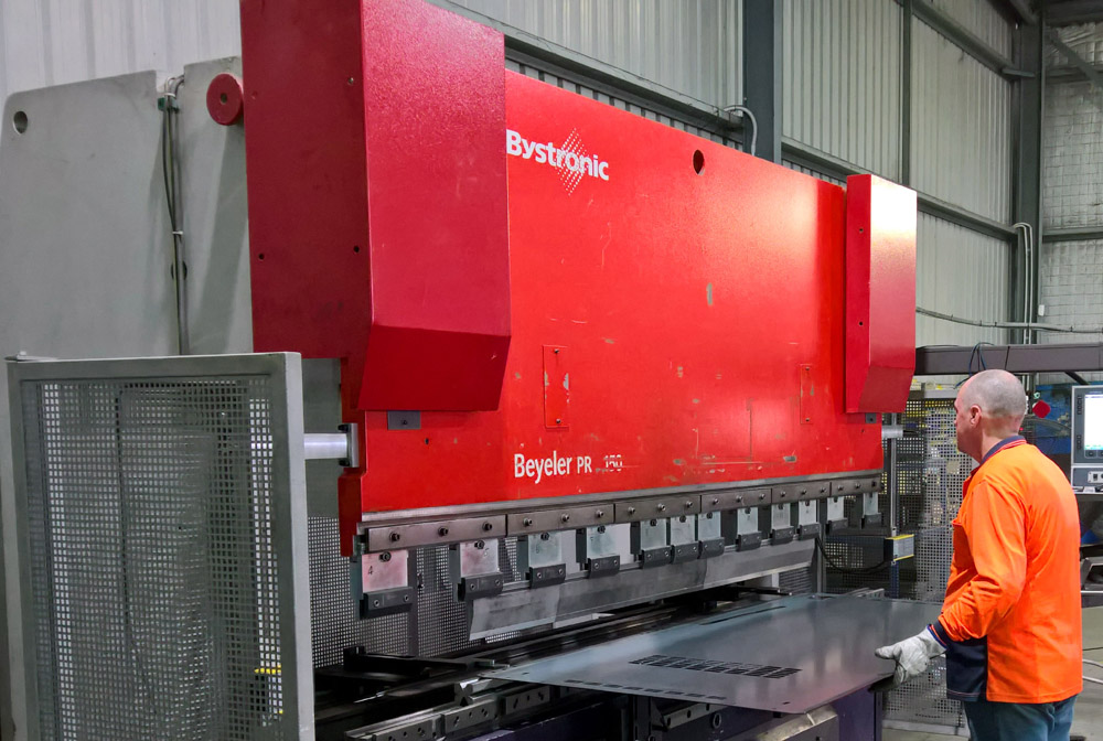 Purchased Beyeler Press Brake for Dandenong.