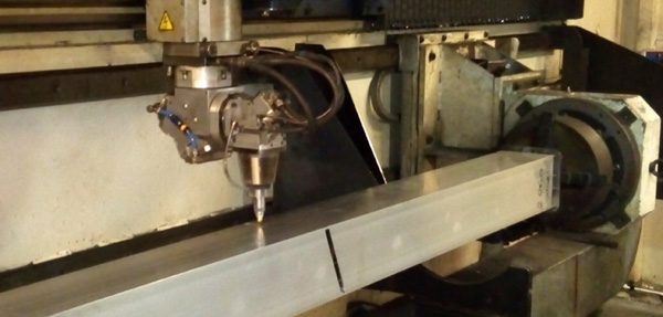 Retrofitted Rotary Axis to Trumpf 5 Axis.